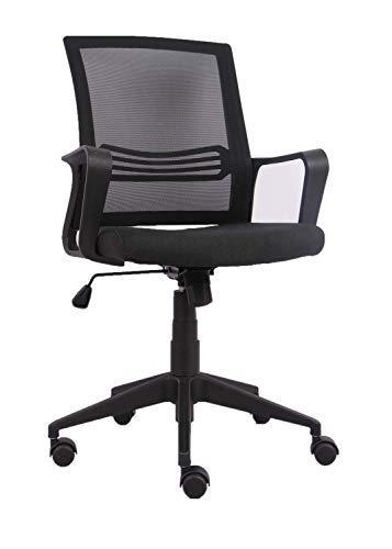 YULUKIA 200039 Bürostuhl Ergonomischer Schreibtischstuhl, Drehstuhl, Meetingraum Stuhl, Wippfunktion, Belastbar bis 120 kg