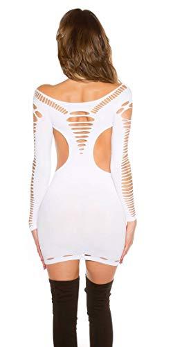 TENDANCE FASHION Mini abito sexy Go-Go con intagli bianco Taglia unica