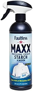 FAULTLESS Maxx Trigger Pump Liquid Starch (20 Oz, 5 Pack) Liquid Starch for Ironing, Makes Your Clothes New Again, Use as a Spray on Starch, Reduces Ironing Time with No Flaking, Sticking or Clogging