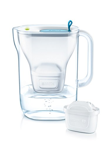 BRITA Style Jarra filtrante de plástico, 26,5 x 11 x 27,5 cm, plástico, Azul, Offre spéciale 3 Cartouches incluses