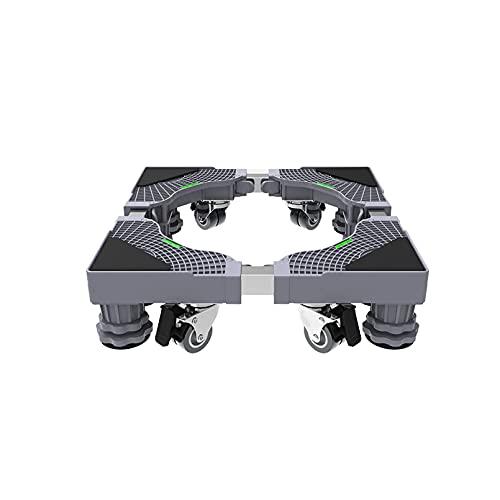 Bandeja Multifuncional para Lavadora con Base móvil con 4 × 2 Ruedas Longitud/Ancho Ajustable 42-68 cm Carro para Secadora y refrigerador Altura 10-12 cm Parrilla para cocinas