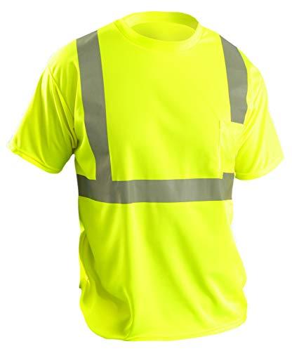 T-Shirt, Mens, 2XL, Yellow
