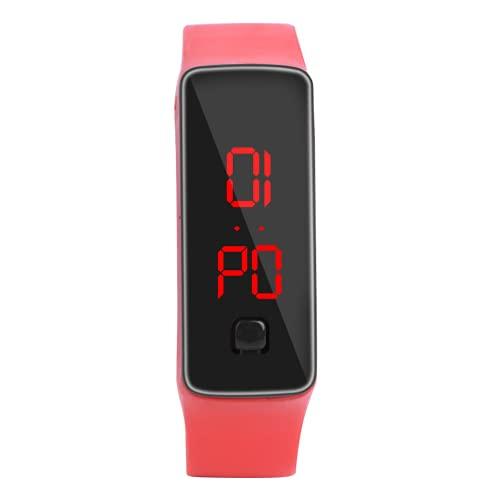 Eosnow Reloj Digital, Reloj De Pulsera Deportivo Duradero para IR Al Trabajo(Rojo)