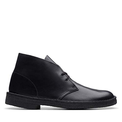 Clarks Originals, Stivaletti Uomo, Nero (Nero (Black Polished Black Polished)), 42 EU