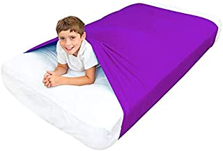 Special Supplies Sensory Bed Sheet for Kids Compression Alternative to Weighted Blankets - Breathable, Stretchy - Cool, Comfortable Sleeping Bedding (Purple, Twin)
