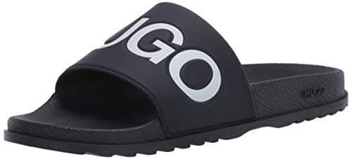 Hugo Boss Hugo by Herren Big Logo Slide Sandale, dunkelblau, 41 EU