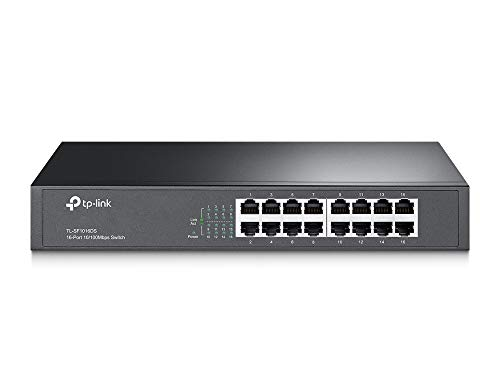 TP-Link TL-SF1016DS Switch Desktop, 16 Porte RJ45 10/100 Mbps, Plug & Play