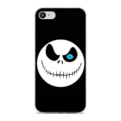 X-Art Transparent Fundas Slim Liquid Flexible Case Back Cover for Apple iPhone 6/6s-Christmas-Nightmare Jack-Skellington 5
