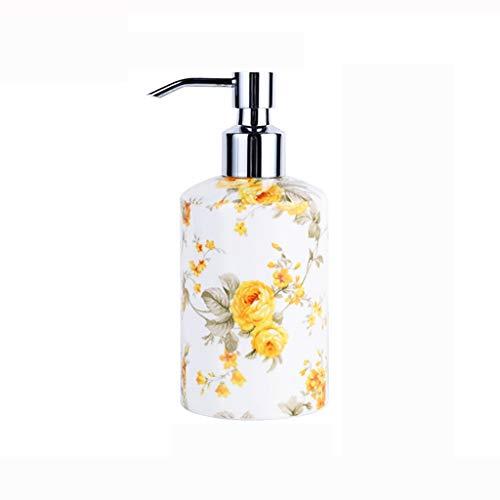 Dispensador de jabón y loción de manos creativo, de cerámica, botella desinfectante de porcelana de hueso, subempaque de gel de ducha, de hotel, de salón de belleza, subempaque