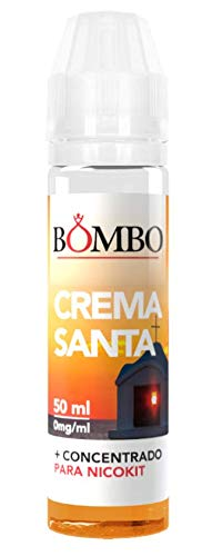 E-liquid BOMBO CREMA SANTA 50ml – TPD- crema pastelera con chocolate blanco y negro, vainilla,para Cigarrillos Electrónicos,sin nicotin