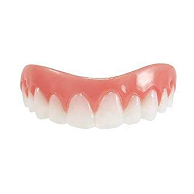 Instant Smile Comfort Fit Flex. Cosmetic Upper White Fake Veneer Teeth. Medium size (NOTE: this is not a real denture)