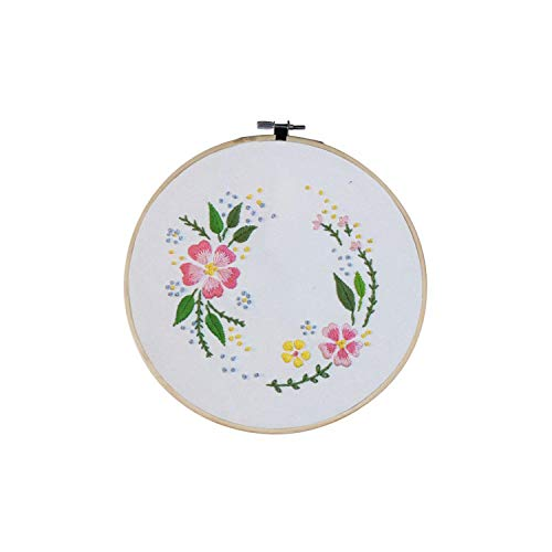 Punch Needle Kit| Flowers DIY Embroidery Ribbon Set Beginners with Embroidery Shed Sewing Kit Cross-Stitch Crafts Hand-Stitched Decor DIY Gift-D-