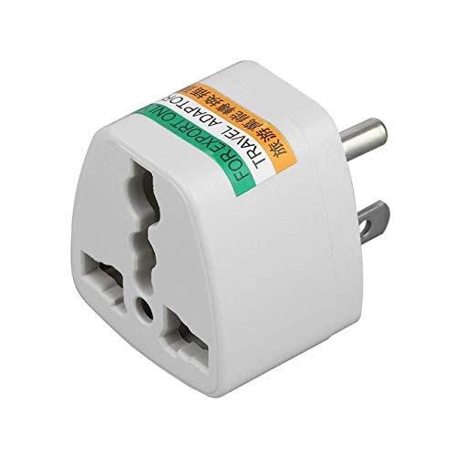 FEE-ZC Práctico portátil Universal Travel AU UK EU to US AC Power Plug Adaptador de Corriente Convertidor Outlet Home Travel Wall Plug 3 Pin