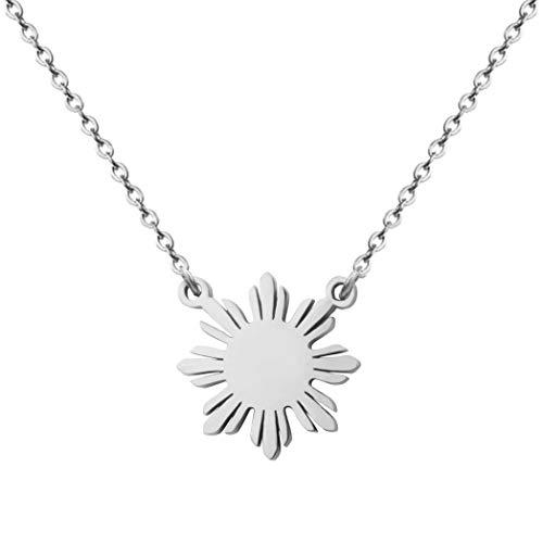 Philippine Sun Necklace Filipino Pride Jewelry Pinoy Pride Charm (Steel)