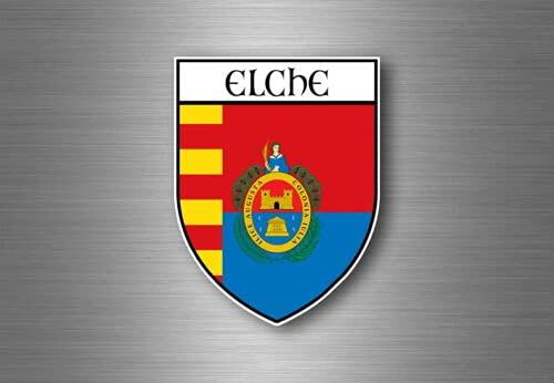 calcomanías para automóviles Pegatina Coche Moto Escudo de armas Bandera Ciudad Elche España Pegatinas para portátiles, suministros de oficina, Motocicletas, Coches