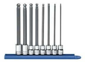 KD Werkzeuge KDT80573 8 St-ck 3/8 Zoll-Laufwerk Metric Hex Bit Long Ball Socket Set