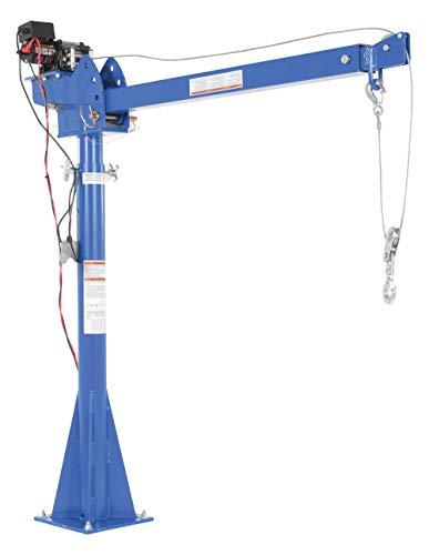 Vestil WTJ-20-4-DC 12V DC Power Lift Jib Crane, Steel, 2000 lb. Capacity, 46' Cable Length, 68-13/16