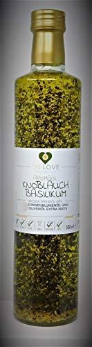 Aroma Speiseöl mit Knoblauch Basilikum Olivenöl Sonnenblumenöl Fl.500ml (2)