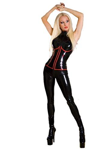 Life Girl Sexy Spiel Uniform Pole Dance Kleid Lackleder Onesies Catsuit, S
