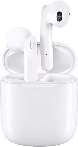 Mini Earbuds Waterproof Headphones,5.0 in-Ear Earphones TWS Stereo Sound, Portable Headset 28H Palytime w/Built-in Mic Single/Twin Mode Charging Case