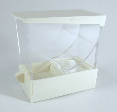 WHITE Professional Dental Cotton Roll Dispenser Holder Organizer Deluxe with pull-out tray