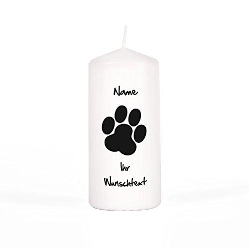 private grief Gedenkkerze an verstorbenen Hund mit persönlicher Beschriftung