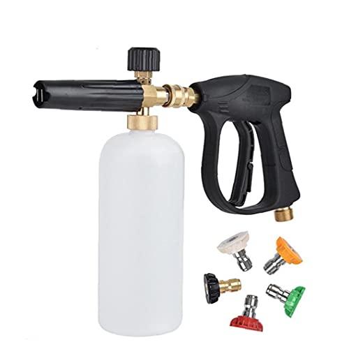 Herramienta de lavado de automóviles, herramienta de lavado de espuma de alta presión con 5 boquillas de agua, lavadora de presión para la limpieza de la cubierta del piso del coche