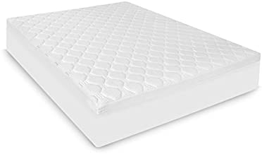 BioPEDIC Hybrid Micro Coil and Memory Foam Mattress Topper, Twin, White