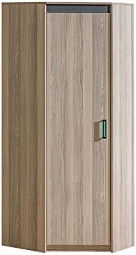 SMARTBett Eckleiderschrank mit Einer Tür Esche Dunkel Grün
