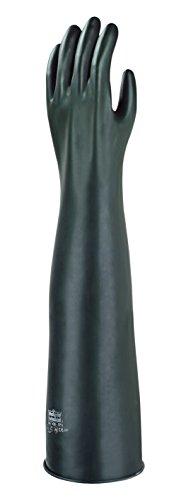 Ansell AlphaTec 87-108 Chemikalienschutz-Handschuhe aus Latex, Naturgummi, Schutz bei Mechanik-, Industriel- und Chemikalienarbeiten, Größe 9.5 (1 Paar)