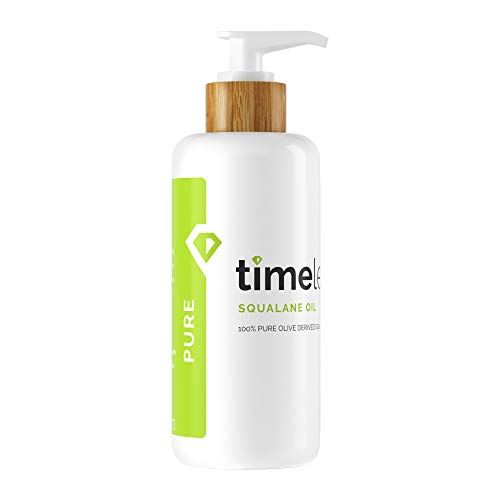 Timeless Skin Care Squalane Oil 100% Pure - 2 oz - Lightweight, Plant-Based Dry Oil - Improves Skin Elasticity & Radiance - Regulates Oil Production - All Skin Types, Including Acne-Prone Skin