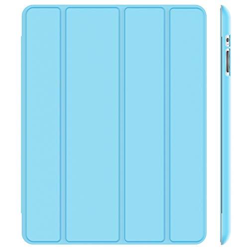 JETech Hülle Kompatibel iPad 4, iPad 3 und iPad 2, Schutzhülle mit Ständer Funktion und Auto Schlaf/Wachen, Blatt Blau