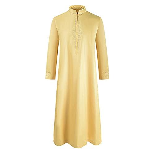 Vestido musulmán para Hombre, Batas de Arabia Saudita de Oriente Medio, Ropa de oración para Hombres