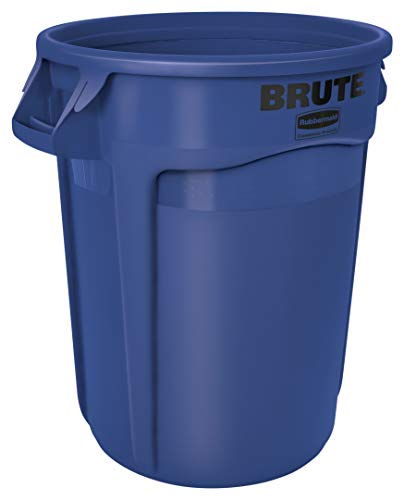 32-Gallon Rubbermaid Commercial Heavy-Duty Round Trash Can (Blue) $28 + Free S/H