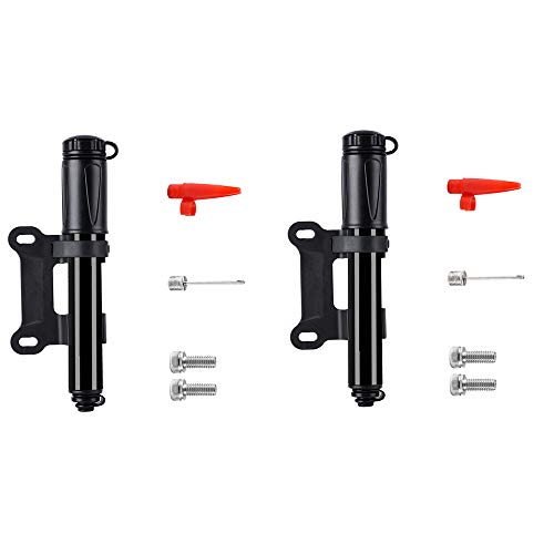 HFGV Bicycle Pump Mini Portable, Manual Inflator Pump,High Pressure PSI - Reliable,Compact and Light - Best Quality & Performance - Bicycle Tire Pump for Road and Mountain Bikes (1pcs)