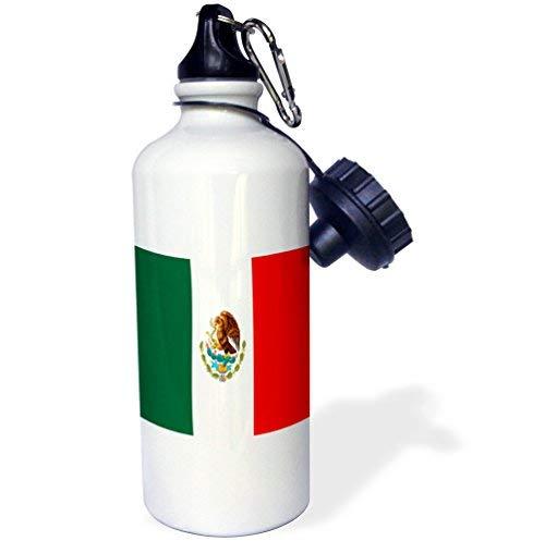 ANGELA G Mexicaanse vlag sport waterfles, 21 oz, wit roestvrij staal waterfles