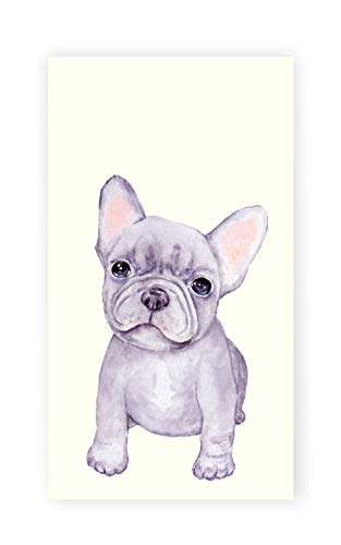 Frenchie Dog Watercolor Print - Kitchen/Bath Hand Towel - Gift For Dog Lover - Towel Decor