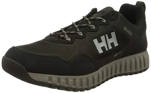 Helly-Hansen Mens Monashee ULLR Low Helly Tech Hiking Shoe, 482 Beluga/orest Night/Aluminum, 990 Black/Ebony/Charcoal, 9