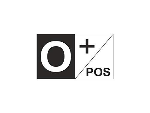Akachafactory Aufkleber Sticker Auto Motorrad Fahne Flagge flaggen Blutgruppe O+ O positiv