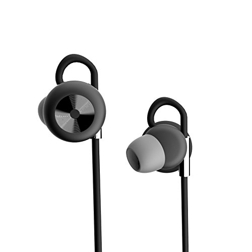 DOSS SP-02 Sport Bluetooth Headphones in-Ear Wireless Stereo Headphones, Bluetooth 4.1 Sweatproof for Running,Sports Earphones for iPhone,ipad, Samsung,and Other Android Phones [Black]