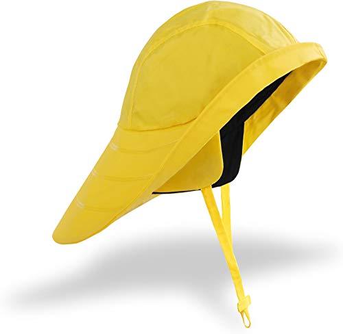 normani Regenhut Südwester mit Kinnband und Langer Krempe Unisex - verschweißte Nähte - 20000 mm Wassersäule Farbe Gelb
