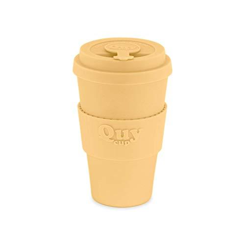 QUY CUP Taza de Café de Bambú - 400ml. Taza Ecológica Reutilizable para Café....