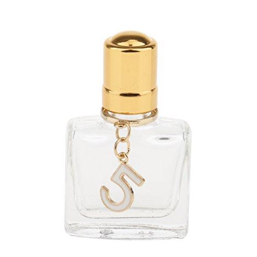 SDENSHI 10ml Bouteilles Vide en Verre Rouleau à Billes Verre pour Huiles Essentielles Huiles de Parfum - Tag C