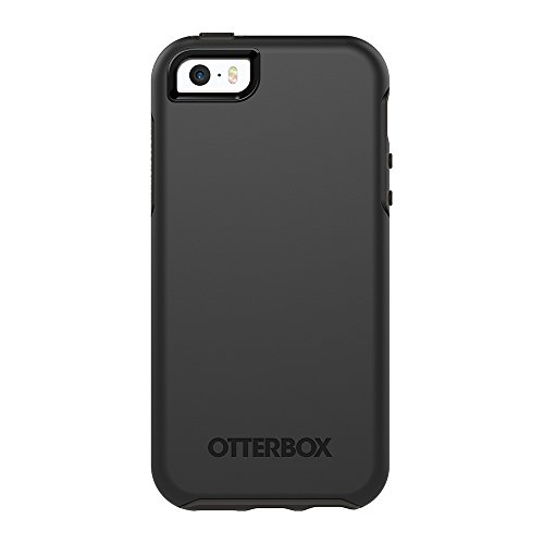 OtterBox Symmetry Series for iPhone SE (1st gen - 2016) and iPhone 5/5s - Retail Packaging - Black