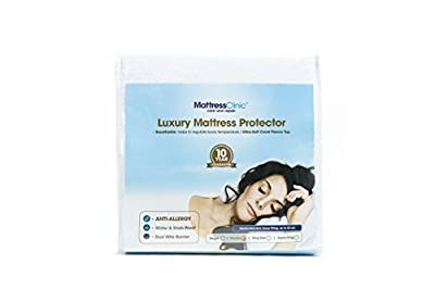 Ultra-Soft, Luxury Mattress Protector (King) | All Bed Sizes Available (Single, Double, King, Super King) | Waterproof, Stain proof, Absorbent, Breathable & Machine Washable, Anti Allergy Topper protects from Bed Wetting, Bed Bugs from Furniture Clinic