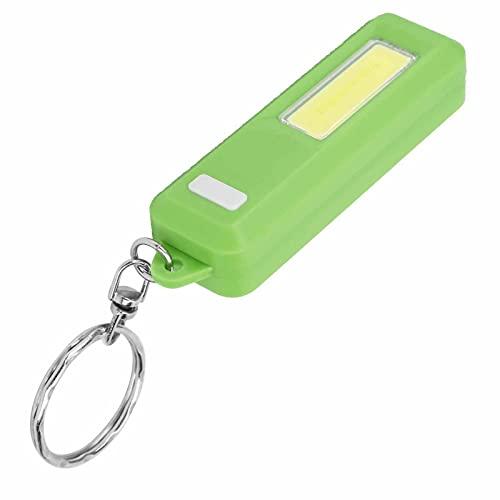 Mini Llavero de Camping con Linterna, Llavero de ABS, Llavero con Mochila de Emergencia(Verde)
