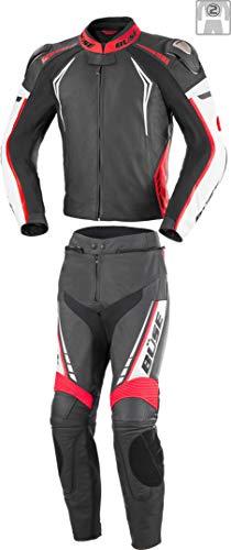 Büse Silverstone Pro 2-Teiler Damen Motorrad Lederkombi Schwarz/Weiß/Rot 34