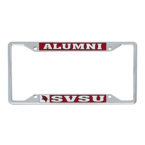 Desert Cactus Saginaw Valley State University SVSU Cardinals NCAA Metal License Plate Frame for Front or Back of Car Officially Licensed (Alumni)