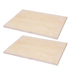 EXCEART 2 Piezas de Tableros de Madera sin Terminar Placas de Madera de Rectángulo Tablas de Talla de Tilo para Pintura de Arte Artesanal Dibujo 2 Cm 8 K