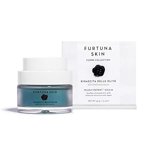 Furtuna Skin Rinascita Delle Olive Replenishing Balm | Perfect for Dry Lips, Dry Skin, Itchy Skin, Cracked Lips, & Rashes | Made with Spirulina, Hawthorn, & Magnolia Oil (45g)